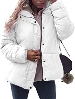 neveraway Women Solid Colored Thick Button-Front Warm Winter Coat Jacket
