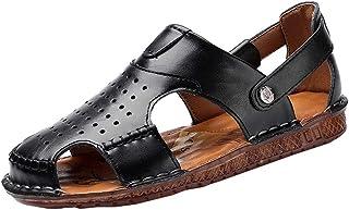 Sandales De Plage pour Hommes, Chaussures De Loisirs D'été, Sandales Creuses Poreuses Et Respirantes Antidérapantes Adapté...