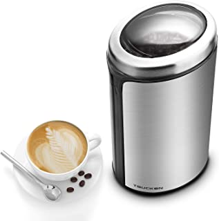 Coffee Grinder - Taucken Ultimate Electric Coffee Grinder, Coffee Bean Grinder Stainless Steel Blade Coffee Grinding Coffee Beans. Durable & Portable Stainless Steel Blades Grinder