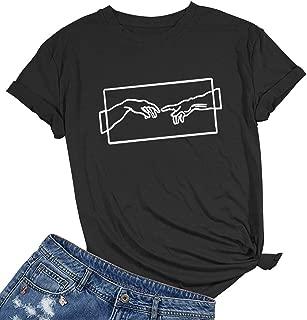 Women's Graphic Cute T Shirt Funny Cotton Tops