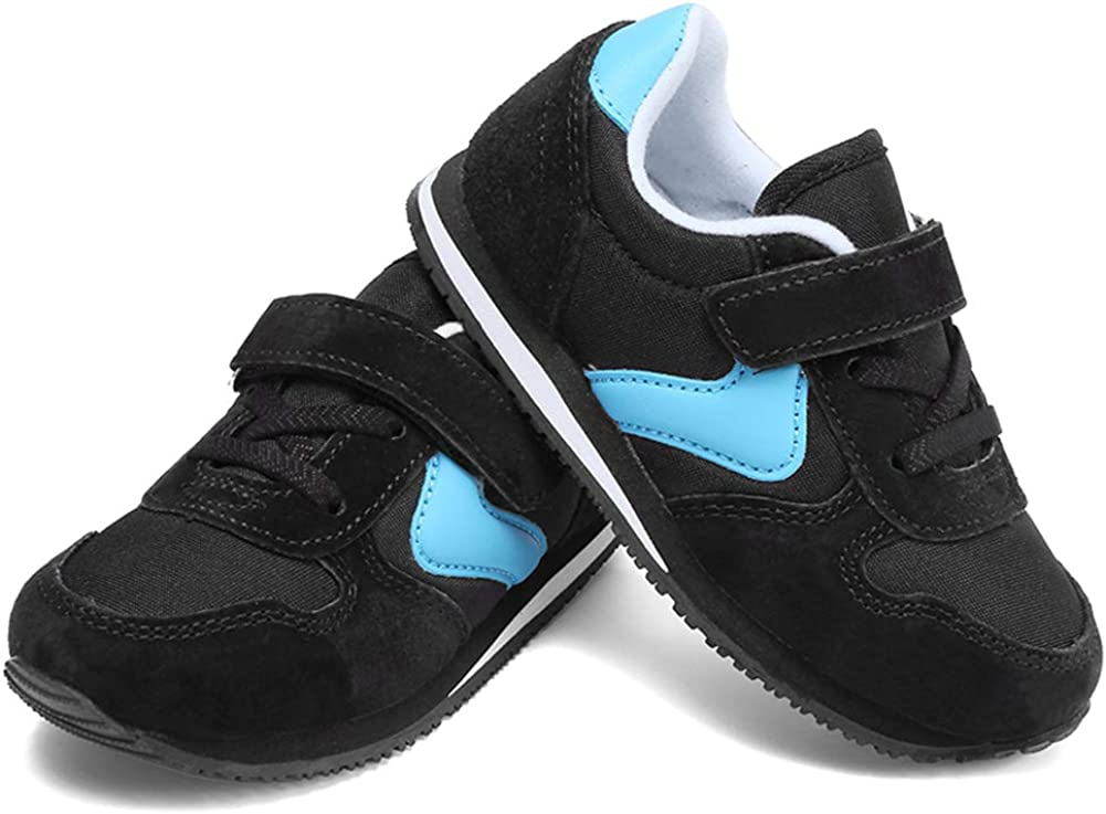WALUCAN Toddler Kids Hook/&Loop Sneaker Unisex-Child Free Outdoor Activities Casual Athletic Sport Running Shoes for All Seasons