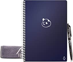 Rocketbook Panda Planner - Reusable Academic Daily Planner with 1 Pilot Frixion Pen & 1 Microfiber Cloth Included - Dark B...