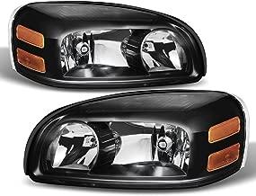 ACANII - For Upgrade Black 2005-2009 Uplander Montana SV6 05-07 Terraza Relay Headlights Driver + Passenger Side