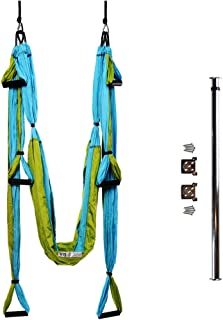 Bundle - 2 Items: Yoga Trapeze & Door-Mount Bar [Bundle] - Blue By YOGABODY - with Free DVD