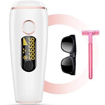 Fezax IPL Haarentfernungsgerät für dauerhaft schmerzlose Haarentfernung, für Körper und Gesicht, Präzisionsaufsatz für empfindlichere Bereiche, 999,999Blitze