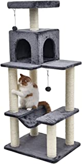 H141cm Pet Cat Toy Cat Climbing Furniture Kitten Playing Balls Fun Cat Scratching Solid Wood for Cat House Frame Scratching Post