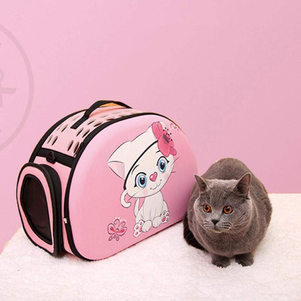globalqi Transportín para Mascotas Abatible,Transportín Perro Gato, para Transporte En Tren, Coche, Avión(44 28 32 Cm): Amazon.es: Productos para mascotas