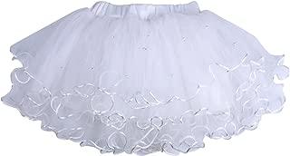 ICObuty Baby Girls Kids Toddlers Ruffle Skirt Tutus Skirt Pettiskirt Multi-Layer Princess Ballet Party Dance Dress