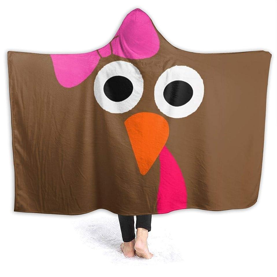 犯す欠員娘YONHXJLAZ Turkey Face Girl Pink Bow - Funny Thanksgiving 毛布 フード付き ブランケット 大判 タオルケット厚手 オールシーズン快適 軽量 抗菌防臭 防ダニ加工 オシャレ 携帯用,車用,オフィス用