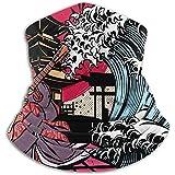 WCUTE Festival de música de Japón Carteles Cuello Polainas Calentador Hombres Mujeres Cálidas Bufandas Circulares a Prueba de Viento