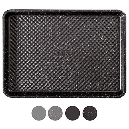 BINO Bakeware Nonstick Cookie Sheet Baking Tray, 13 x 18 Inch - Speckled Black | Premium Quality Textured Baking Sheet with Even-Flow Technology | Dishwasher Safe | Non-Toxic