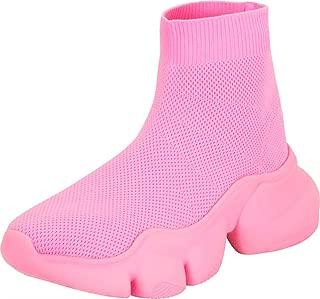 Cambridge Select Women's Stretch Knit Sock Chunky Platform Fashion Sneaker