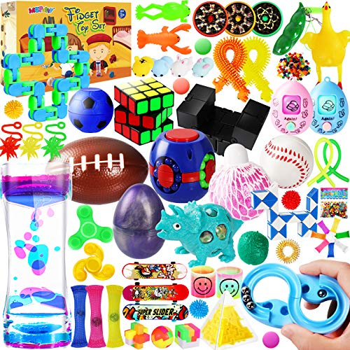MGparty 72PCS Sensory Fidget Toys Set, Stress Anxiety Relief Assortment Toys for Kids Adults,Party Favors Carnival Prize Classroom Rewards Pinata Goodie Bag Fillers
