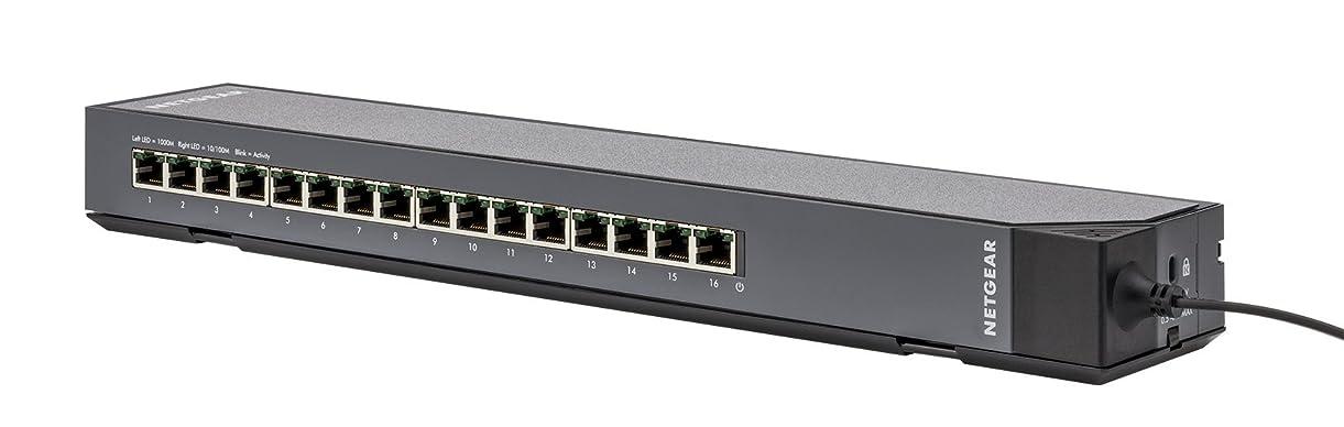 不毛の違うカーテンNETGEAR スイッチングハブ ギガビット16ポート/VLAN QoS IGMP LAG/ファンレス静音/省エネ/タップ型/マグネット付属/無償永久保証 GSS116E-100JPS