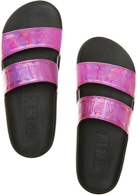 Victoria's Secret Pink Double Strap Sport Slides Sandals