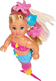Simba 105733318 Evi Love Swimming Mermaid / Evi the Mermaid / Can Swim / with Fish Figure / Dressing Doll / 12 cm for Chil...