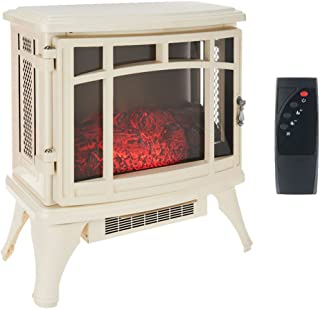 Duraflame Infrared Quartz Stove Heater with Flame Effect, Cream | DFS-8511