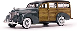 Sunstar NEN 1:18 American Collectible - Gray 1939 Chevrolet Woody SURF Wagon Diecast Model Car
