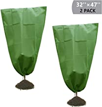 Onene 2 Pack Drawstring Plant Covers, 47