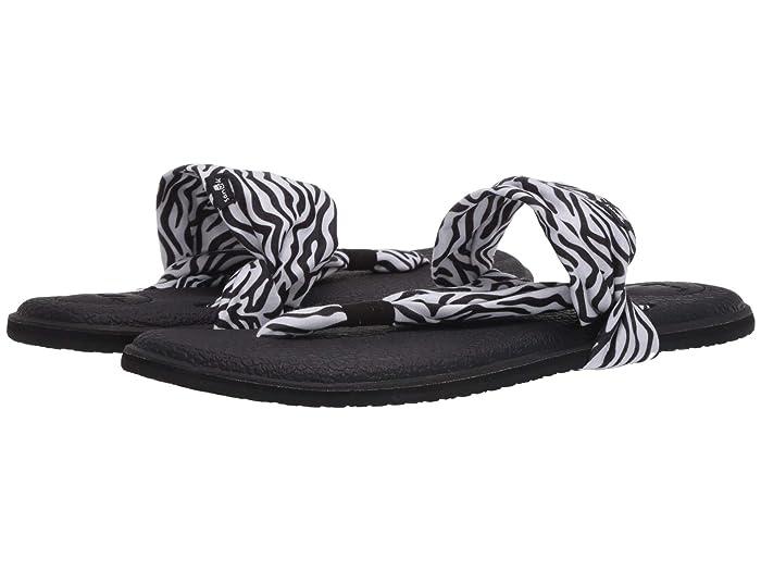 Sanuk  Yoga Sling 2 Prints (Zebra) Womens Sandals
