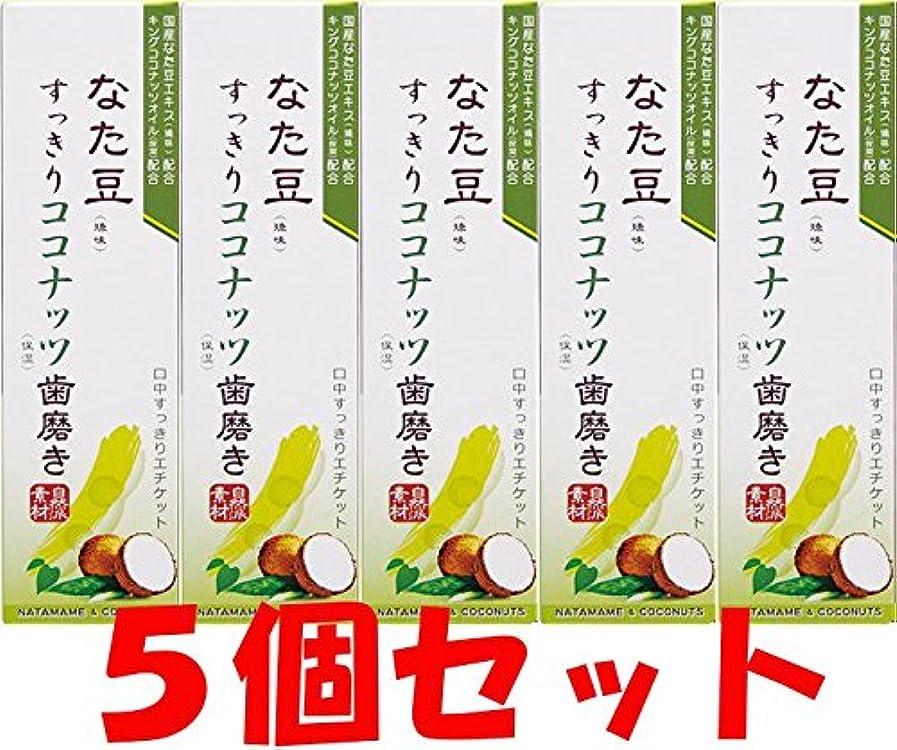 潜む廃棄する自治的【5個セット】なた豆すっきりココナッツ歯磨き粉 120g