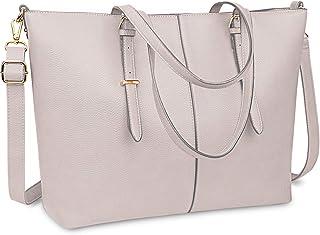 Laptop Damen Handtasche 15,6 Zoll Shopper Handtasche Elegant Leder Taschen Große Leichte Elegant Stilvolle Frauen Handtasc...