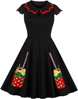 Wellwits - Vestito vintage da donna, con motivo ragnatela, motivo a ragnatela, per Halloween