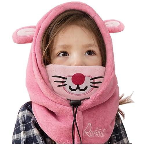 bd5a234101c YUANMY Bonnet Cache Cou Enfant Cagoule Bébé Garçon Fille Cache Oreilles  Capuche Animaux Hiver 1-