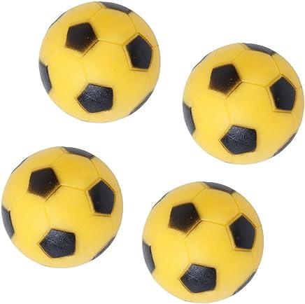 Generic 4pcs 36mm Soccer Table Foosball Football Fussball Replacement Ball Yellow Black