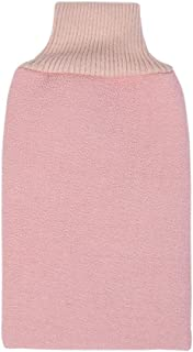 Prettyia 1 Pack Bath Scrub mitt Gloves Massage Scrubber Shower wash Skin Spa Shower Tool (Pink)