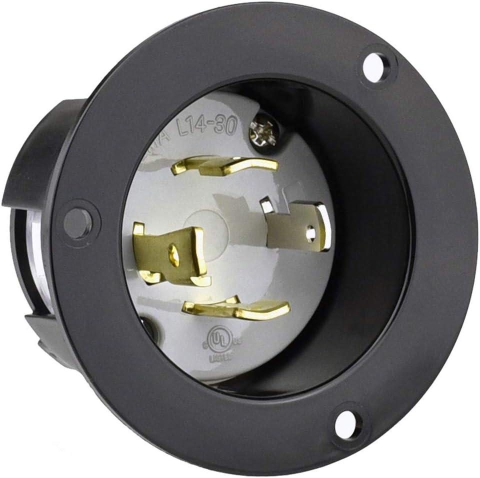 Cllena NEMA L14-30 Flanged Generators Inlet Great interest Outlet Store Recepta Power