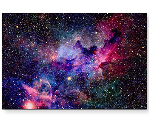 Paul Sinus Art Nebel und Galaxien im Weltraum - Leinwandbild 120x80cm