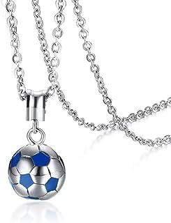 AILUOR Regalo de la joyería de Las Mujeres 2018 Copa del Mundo, Collar Pendiente del balón de fútbol Fútbol