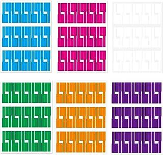 ケーブルラベル ケーブルタグ タグケーブル タグ ラベル 手書き可能 電線整理 防水 6枚セット (6色-6枚180ラベル)