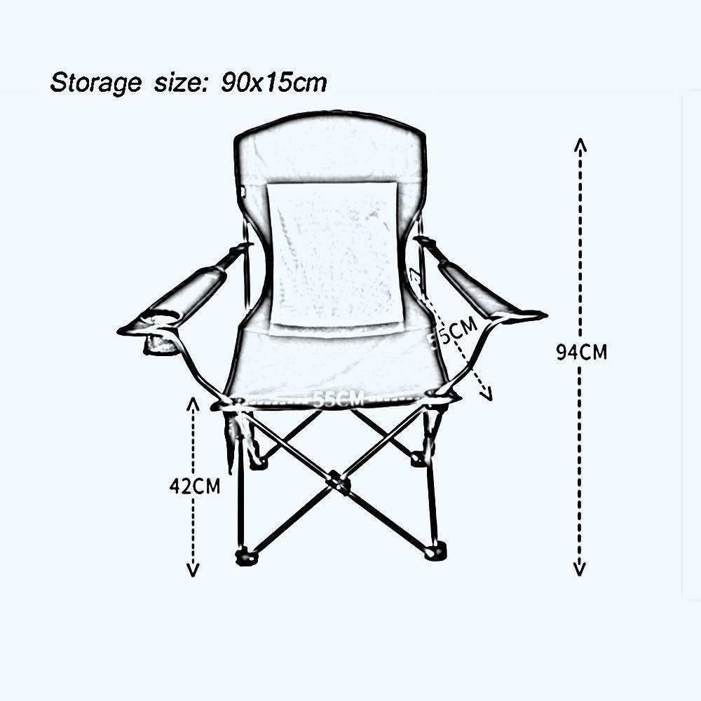 Chaise inclinable de Camping Chaise Longue, Chaise de Camping Pliante Multi-Fonction zéro gravité pour la Pause déjeuner Dossier de canapé Paresseux pour Salon Jardin extérieur B