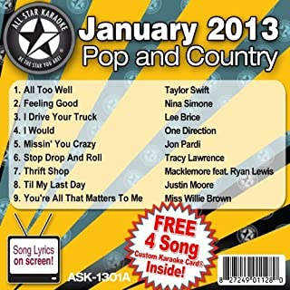 All Star Karaoke Pop and Country Series (ASK-1301A) by Taylor Swift, Nina Simone, Lee Brice, One Direction, Jon Pardi, Tracy Lawrence, (2012-12-24)
