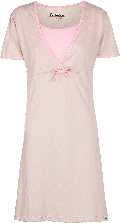 manica corta camicia da notte premaman e da allattamento 100/% cotone Paola Di Vadini
