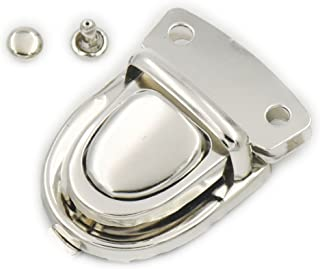 Fujiyuan 10 pcs 30mm x 40mm Closure Catch Tuck Lock for Leather Bag Case Clasp Purse Backpack Nickel