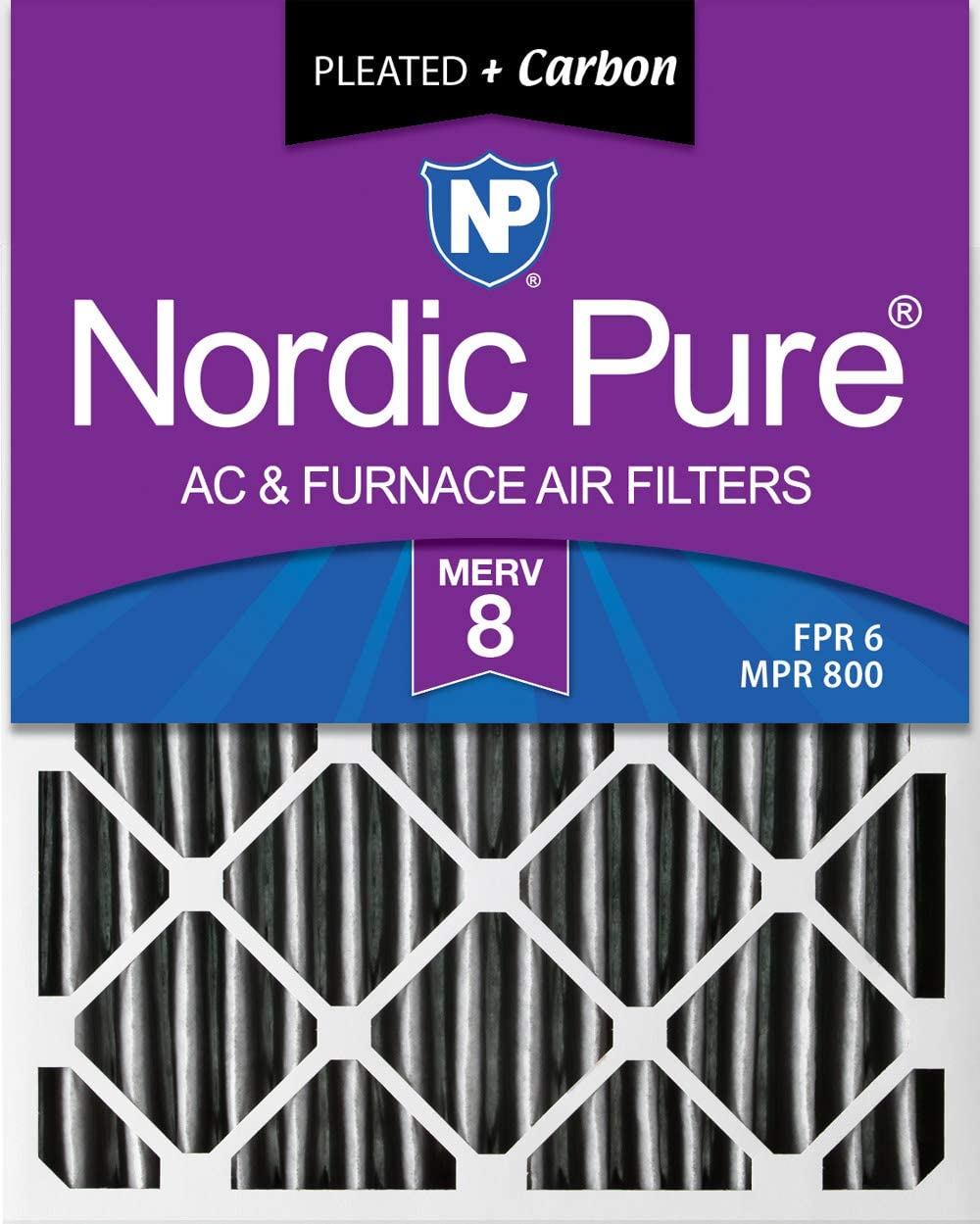 Nordic Pure 15x20x2 MERV 8 Pleated AC Fi Furnace Plus Ranking TOP4 Air Max 62% OFF Carbon
