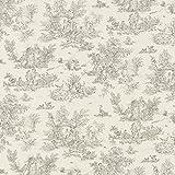 Baumwollstoff kleine Pastorale 280 cm – grau — Meterware ab 0,5m — zum Nähen von Kissen/Tagesdecken & Taschen