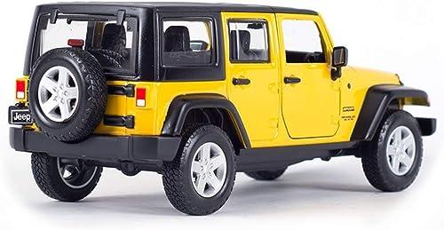 AGWa Modelo a escala Modelo de simulación Modelo de vehículo Coche Jeep Versión de cuatro puertas Vehículo todo terreno Simulación estática Aleación Modelo de vehículo Juguetes para Niños Coleccionab