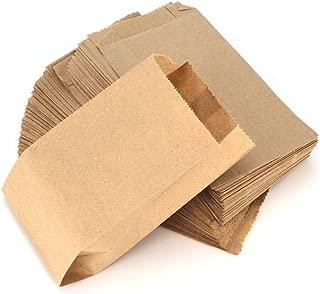 RUBY - 100 Kraft bolsa de papel marrón, bolsas de regalo/bolsas de fiesta/calendario de adviento/navidad/bodas/fiestas de cumpleaños/mercados/cafeterías (8cm x 15cm, 100 unids)