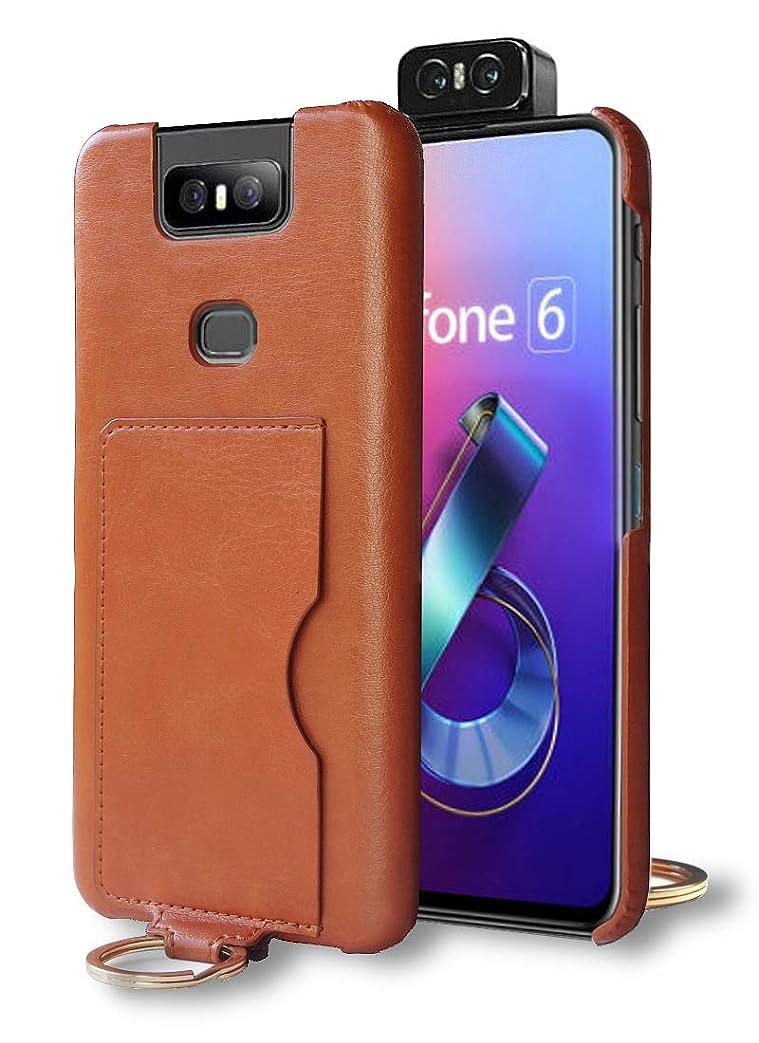 予見するリフトトラップZenFone 6 ケース ZenFone6 ZS630KL レザーケース バックカバー