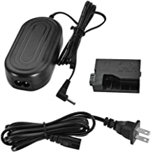 ACK-E10 Smartpow DC Coupler Charger Kit AC Power Adapter Supply DR-E10 Replacement fit for Canon EOS 1100D 1200D 1300D Rebel T3 T5 T6 Kiss X50 Kiss X70 Digital Cameras