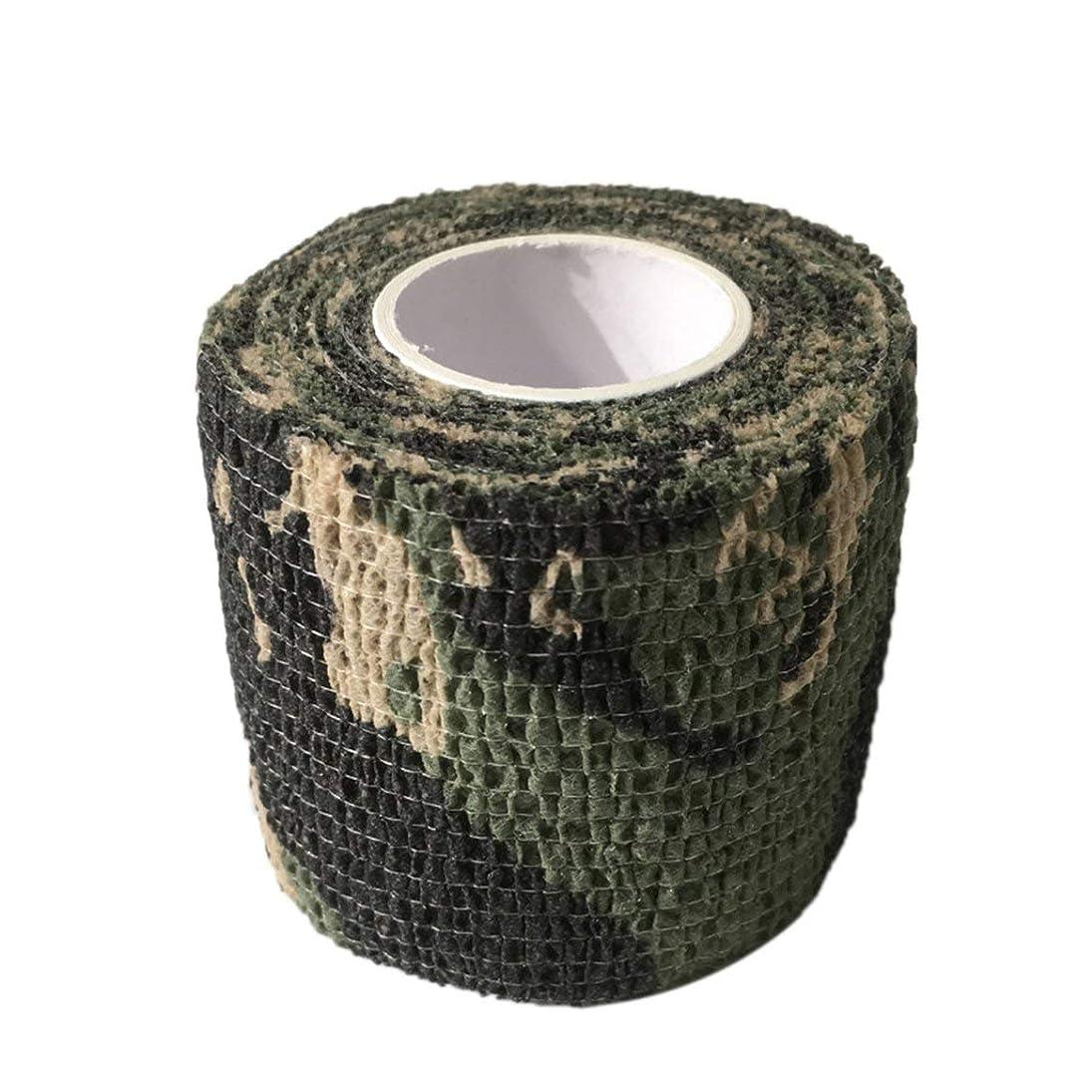 保持増幅器鋭くタトゥーマシンハンドルタトゥーアクセサリー(迷彩3)の使い捨てタトゥーグリップカバーラップ自己接着弾性包帯