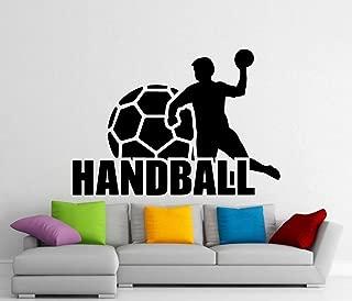 hetingyue Balonmano Vinilo Apliques Adhesivo de Pared Deportes hogar Interior Mural 72x50cm
