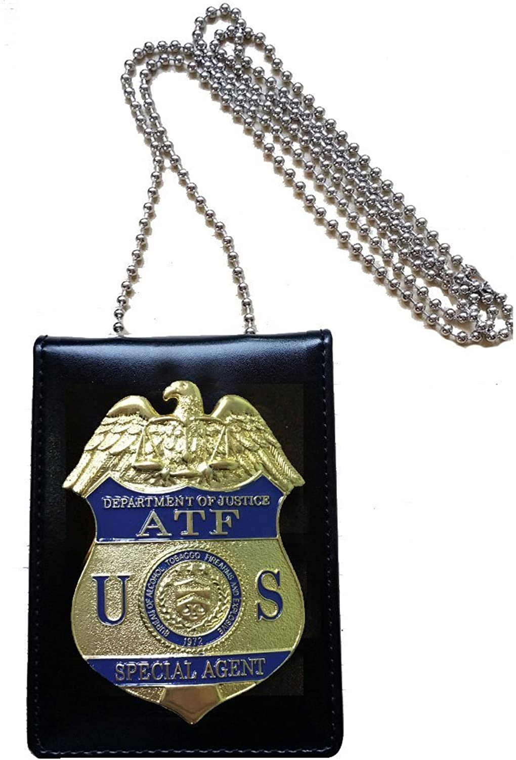 Cos Moments ATF Firearms and Explosives Enforcement Administration replica card case with badge