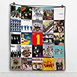 Albums The Beatles Collage Art Music Fleece Blanket (30x40 Inches)