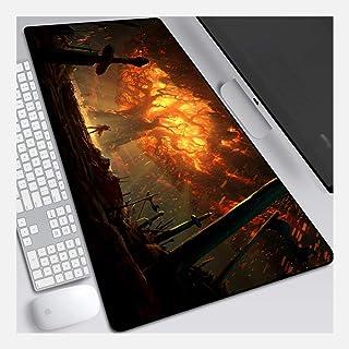 Musmatta World of Warcraft 900 x 400 mm musmatta, perfekt precision och hastighet spelmusmatta med 3 mm tjock bas, för ant...