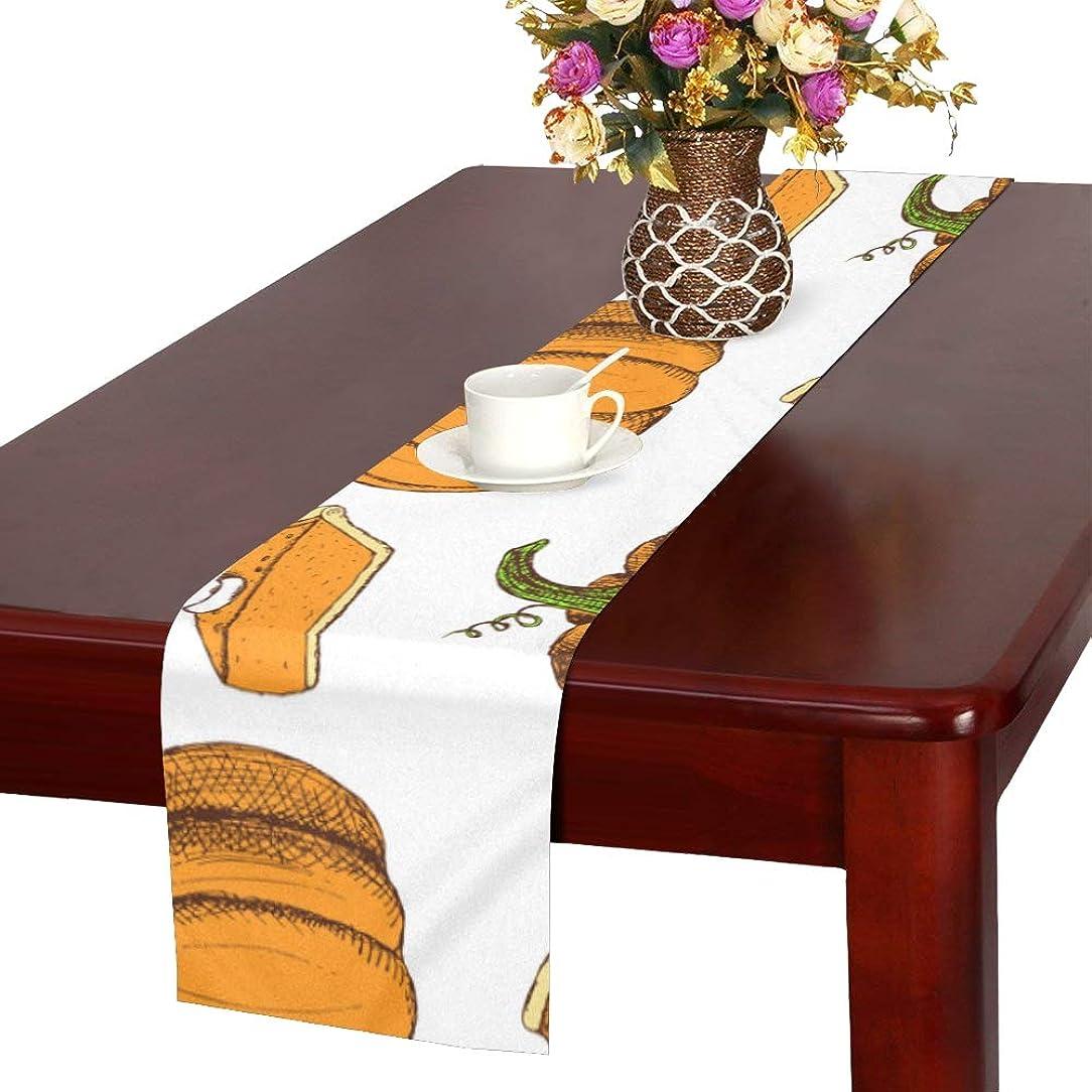 ほのか愛国的なただやるLKCDNG テーブルランナー 黄色いかぼちゃ クロス 食卓カバー 麻綿製 欧米 おしゃれ 16 Inch X 72 Inch (40cm X 182cm) キッチン ダイニング ホーム デコレーション モダン リビング 洗える